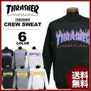 スラッシャー THRASHER クルースエット トレーナー ブラック 黒 グレー ホワイト 白 FLAME 3C CREW SWEAT メンズ レディース