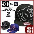 ディーシー シューズ DC SHOES キャップ メンズ レディース New Era DOUBLE UP SNAP BACK CAP ブラック 黒 ブルー 青 ニューエラー
