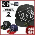 ディーシー シューズ DC SHOES キャップ メンズ レディース New Era COVERAGE FITTED CAP ブラック 黒 ネイビー 紺 レッド 赤 ニューエラー