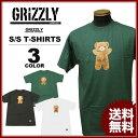 グリズリー GRIZZLY Tシャツ CHILDHOOD S/S T-SHIRTS 半袖 TEE メンズ レディース ブラック 黒 ホワイト 白 グリーン