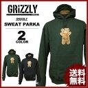 グリズリー GRIZZLY スエットパーカ パーカー CHILDHOOD SWEAT PARKA フードスエット メンズ ブラック 黒 グリーン