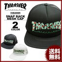 スラッシャー THRASHER 帽子 ROSES MESH フラットバイザーキャップ メンズ レディース スナップバック 全2色