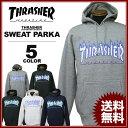 スラッシャー THRASHER スエット パーカ FLAME 3C SWEAT PARKA フードスエット パーカー ブラック 黒 グレー ホワイト 白 ネイビー メンズ レディース