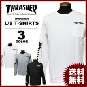 スラッシャー THRASHER ロンT WING SKULL FLAG POCKET ロングTシャツ メンズ レディース ポケT 全3色 S-XXL
