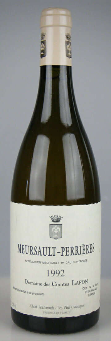 Domaine des Comtes Lafon Meursault les Perrieres [1992] / ドメーヌ デ コント・ラフォン ムルソー レ ペリエール [FR][WA93][白][29]