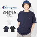 Champion ワンポイントTシャツ(キングサイズ) メンズRight-on,ライトオン,C3-P300LE,チャンピオン,Champion,大きいサイズ,男性,女性,ユニセックス,2L,3L,4L,ゆったり,オーバーサイズ,ホワイト,ブラック,ネイビー