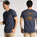 プリントポケット付きクルーネックTシャツ メンズRight-on,ライトオン,V00TU-16SSBN,VANS,バンズ