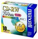 CD-RW データ用 10枚ケース入り 700MB 書き換え型 1〜4倍速対応 インクジェットプリンタ対応 MQシリーズ CDRW80PW.S1P10S maxell マクセル