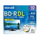 ブルーレイディスク 1回録画用 10枚 BD-R DL 50GB 2層 1〜4倍速対応 ひろびろ美白レーベルディスク BRV50WPE.10S maxell マクセル