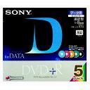 【アウトレット】SONY ソニー / データ用 DVD+ R / 追記型・1回記録用 / 5色カラー / 1-8倍速対応 / 5枚パック[5DPR47GX]