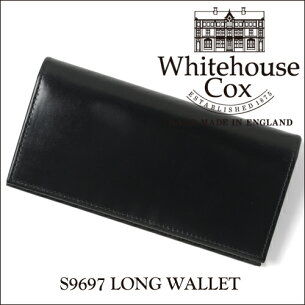 ホワイトハウス コックス ロングウォレット ブライドルレザー ブラック Whitehouse ホワイトハウスコ
