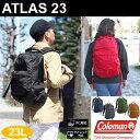 コールマン Colemanアトラス23 バックパック (23L)[全6色]ATLAS23ユニセックス(男女兼用)【鞄】_11606F(ripe)