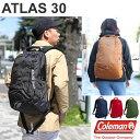 Coleman ATLAS 30[全5色]コールマン アトラス バックパックユニセックス(男女兼用)【鞄】_11503E(ripe)【あす楽】
