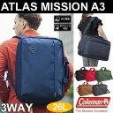 コールマン ColemanアトラスミッションA3 ブリーフケース (26L)[全6色]ATLAS MISSION A3ユニセックス(男女兼用)【鞄】_11606E(ripe)