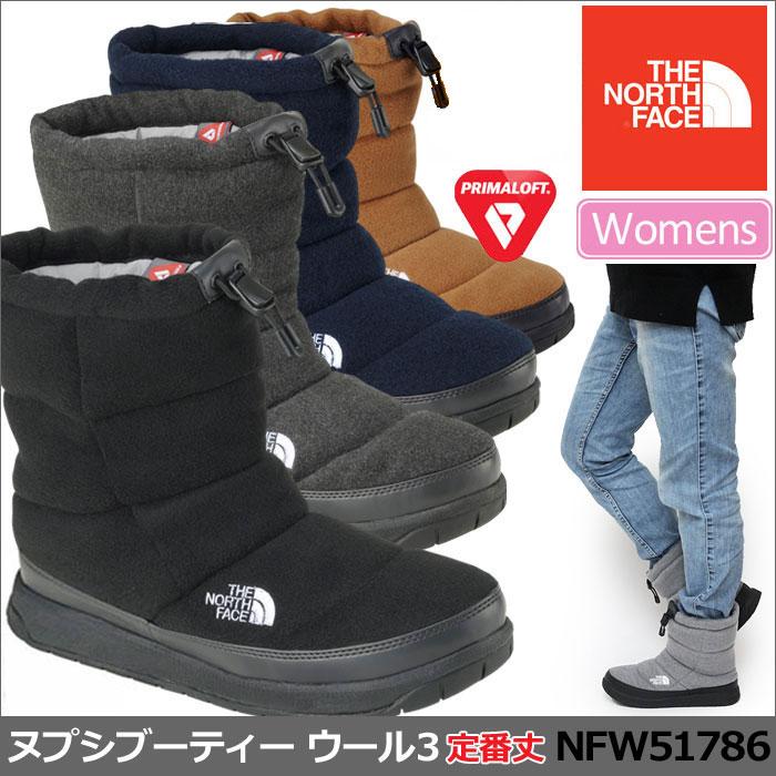 父の日ギフトノースフェイス ブーツ ウィメンズ ヌプシブーティー ウール 3[全5色](NFW51786)THE NORTH FACE W NUPTSE BOOTIE WOOL III レディース【靴】_11710E(ripe)