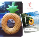 RiRicollection パイナップル 浮き輪 大きいサイズ 180CM×120CM フロート pineapple フルーツ カラフル うきわ ビーチ リゾート レディース 欧米ブーム ナイトプール カップル 海外旅行 プール♪ ukiwa-pine01