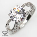 I am enchanted by a Princess style! A diamond cz ribbon silver 925 platinum ring [lapping free of charge] [possible delivery date designation] [easy  _ packing]