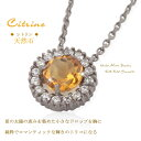 ■Reservation ■ nature round cut citrine X diamond cz circle necklace [silver 925] [lapping free of charge] [easy ギフ _ packing]