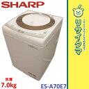 【中古】RK613▼シャープ 洗濯機 2012年 7.0kg 送風乾燥 ステンレス槽 ES-A70E7