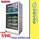 【中古】OC26▲サンヨー 冷蔵ショーケース 瓶冷やし 2011年 594L RSM-R900CHA