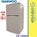 【中古】MK910△大宇 冷蔵庫 86L 2014年 2ドア 単身 コンパクト DR-T90BG
