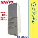 【中古】MK924▽サンヨー 冷蔵庫 2009年 355L 4ドア 自動製氷 SR-SD36R