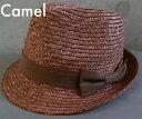 3608522■帽子 天然素材 ナチュラル ストローハット 中折れハット 麦わら帽子 3color 無地リボン メンズ レディース ユニセックス 中折れストローハット