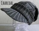 ショッピングハンチング ■帽子 9colors 格子柄 スクエア編み つば付き ニット キャスケット ニット メンズ レディース 男女兼用