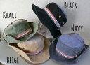 5893629■3s0s 帽子4colors サファリハット アドベンチャーハット ヴィンテージ仕様 トリコロール ワッペン ウォッシュ加工...