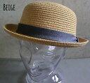 5941098■3s0s 帽子 4colors 折りたためる ボーラーハット ストローハット リネン帯 男女兼用 春 夏 ハット ボーラー 定番 UV99.9 カット メンズ レディース