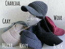 6316374■3a0w 帽子 6colors つば付 リブ...