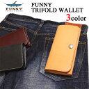 FUNNY/ファニー 財布 トライフォード ウォレット(黒、...