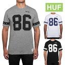 【クーポンでさらに100円off】HUF 5 STAR FOOTBALL JERSEY ハフ フットボールシャツ 【huf243】