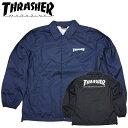 スラッシャー マグロゴプリント コーチジャケット ナイロンジャケット ウインドブレーカー ジャンパースケーター THRASHER TH8901C thrasher35