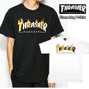 スラッシャー メンズ 半袖 Tシャツ フレーム マグ Tシャツ Flame Mag T-Shirt thrasher95(単品購入に限りメール便発送)