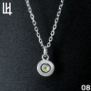 LION HEART PASSAGE OF TIME - Birth Color Stone 8月 Color of Peridot (ライム) シルバーネックレス 01NE075108 ライオンハート シル..