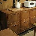 journal standard Furniture ジャーナルスタンダードファニチャー BRISTOL キッチンカウンター ジャーナルスタンダード 家具 キッチンカウンター 木製 幅130 キャビネット キッチン 収納 コンセント ビンテージ