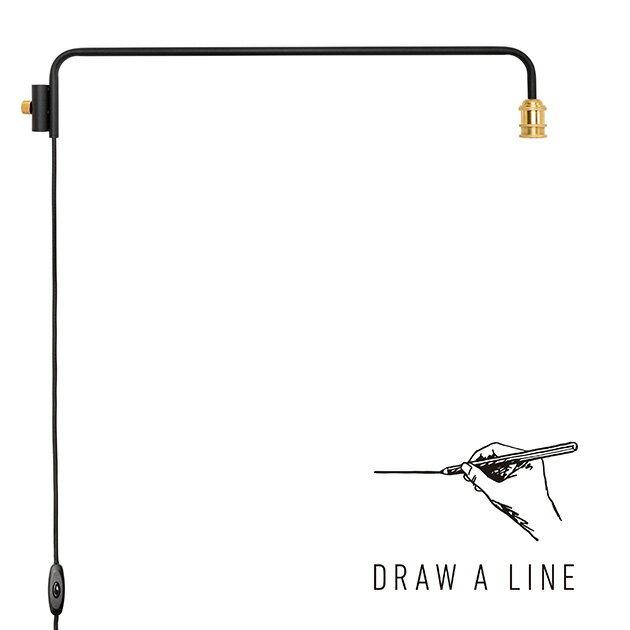 DRAW A LINE ドローアライン 202 ランプアーム L 単品パーツ 縦専用 つっぱり棒 突っ張り棒 伸縮 おしゃれ モノトーン 北欧 インダストリアル アイアン ツヤ消し インテリア