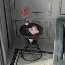 ベッドサイドテーブル.置台 サイドテーブル ナイトテーブル 高級感 アンティーク風 ソファーテーブル 大理石 幅50cm
