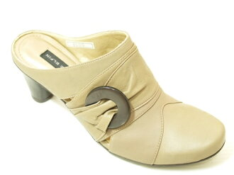 4606 leather mule beige