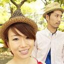 楽天リバーアップ天然素材の透かし編み [中折れ麦わらハット・ウォーキング・散歩・あす楽対応商品] HAT・ナチュラル・ストロー・風通し・日除け・男女兼用・メンズ・レディース/RIVER UP(リバーアップ) - Sukashi Mix Hat(スカシミックスハット)[BASIQUENTI]