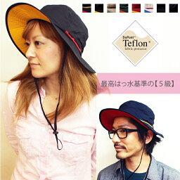 (はっ水ハット)Teflon Safari Hat ベーシックエンチ テフロン サファリハット WEB限定 レインハット サーフハット キャンプ フェス <strong>アウトドア</strong> キッズ レディース メンズ フリーサイズ 大きいサイズ