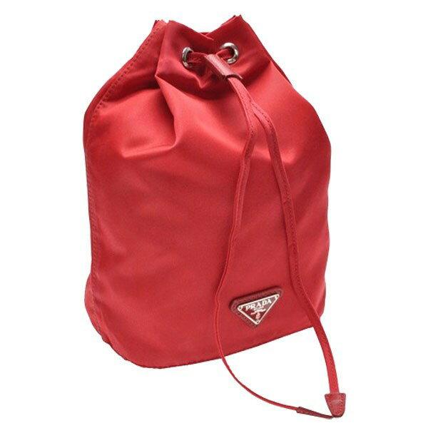 プラダ PRADA 巾着ポーチ レッド ナイロン 1n0369vela-rosso