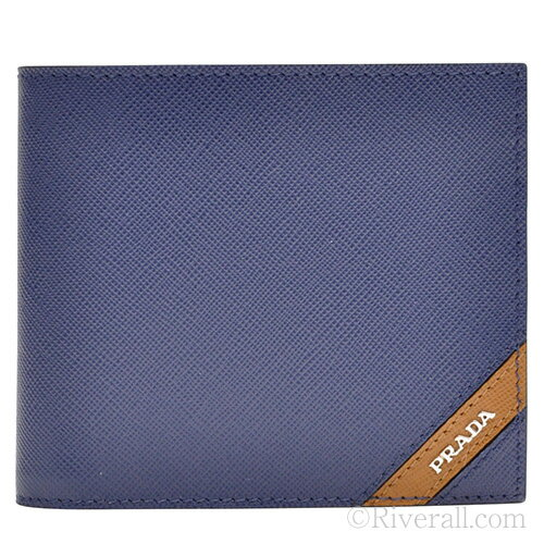 prada mens wallet blue