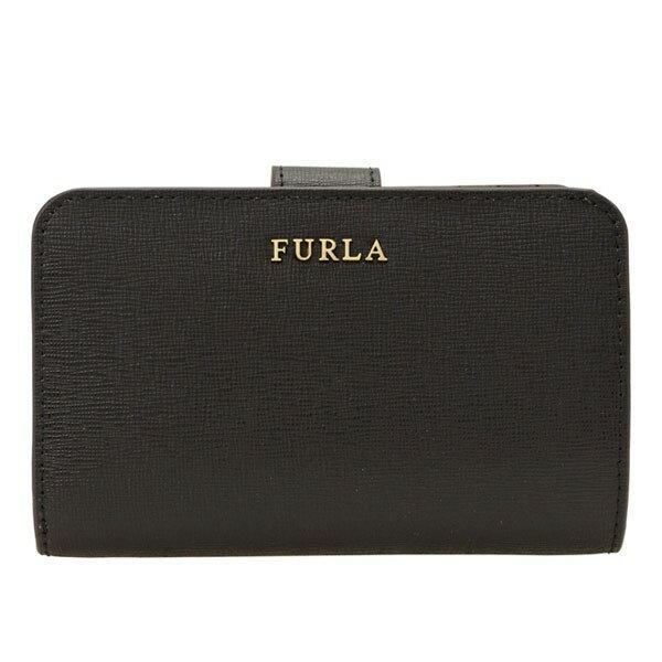 フルラ 財布 FURLA 二つ折り財布 BABYLON M レディース ブラック/ONYX レザー 872836 アウトレット店買付 セール