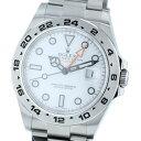 【中古】ROLEX ロレックス エクスプローラーII White 時計 自動巻き/メンズ EXPLORER White/ホワイト 216570 ランダム番 used:A