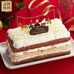 【全品ポイント10倍 〜11/13 9:59】クリスマスケーキ超早割【送料無料】ホワイトXmasワッフルクリスマスケーキ パーティー【クリスマスケーキ】【スイーツ 内祝い 誕生日 ケーキ ギフト】