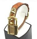 ☆☆【中古】エルメス HERMES ケリーウォッチ 腕時計 Y刻印 ゴールド×ブラウン