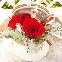 Merry Christmasサンタクロースからバラのプレゼント