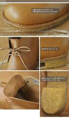 【送料無料】ホッコ本革大人な柔らかな履き心地レザーチャッカショートブーツhoccoデザートブーツナチュラルシンプル牛革大きいサイズMLLLレディース靴
